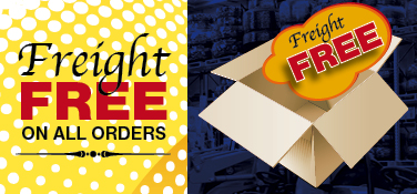 Free freight on all orders