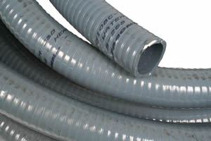 "Picture of 102mm (4"") Heavy Duty Grey PVC Hose - B2506"