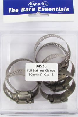 """Picture of Bare Essentials 2"""" Stainless Hose Clamp (Qty 6) - B4526"""