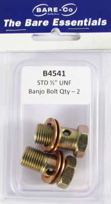 "Picture of Bare Essentials 1/2"" UNF Banjo Bolt (Qty 2) - B4541"