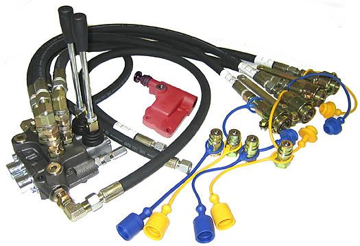 Picture of Remote Hydraulic  Kit 2 Ram for 3 Cylinder Ford Models - B1468