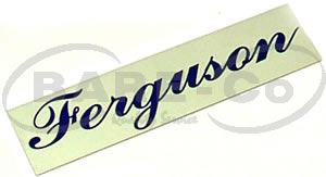 "Picture of Name Plate ""Ferguson"" - B1234"