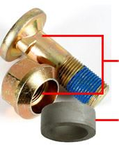Picture of Slasher Bolt/Bush/Nut Kit (Nib Type) - B6467