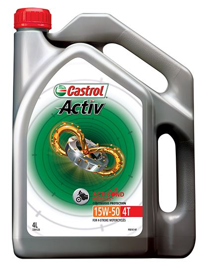 Picture of Castrol ACTIV 4T 15W-50 (4 ltr) - 3384526
