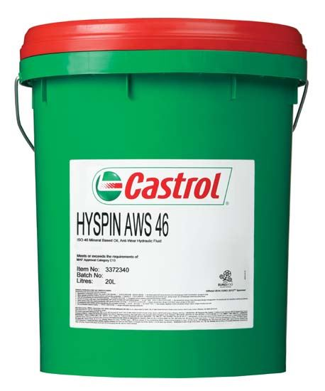 Picture of Castrol HYSPIN AWS 10 (20 ltr) - 4103277