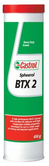 Picture of Castrol SPHEEROL BTX 2 GREASE CARTRIDGE (450 g) - 3413942