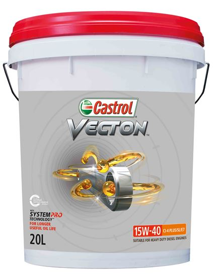 Picture of Castrol VECTON 15W-40 CI-4 PLUS/SL/E7 (20 ltr) - 3420636