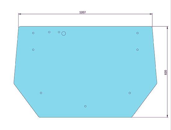 Picture of Flat Rear Window 10 Holes - MI-SG20001