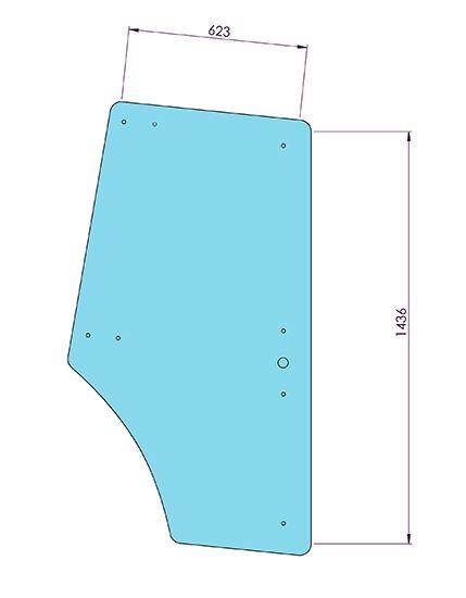 Picture of LH & RH Door Flat 9 Holes - MI-SG20002