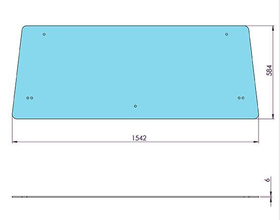 Picture of Flat Rear Window - MI-SG20003