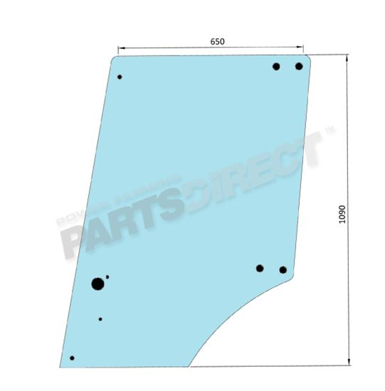 Picture of Flat Door Glass 9 Holes - MI-SG3007