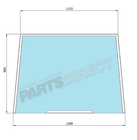 Picture of Flat Windscreen - MI-SG4027