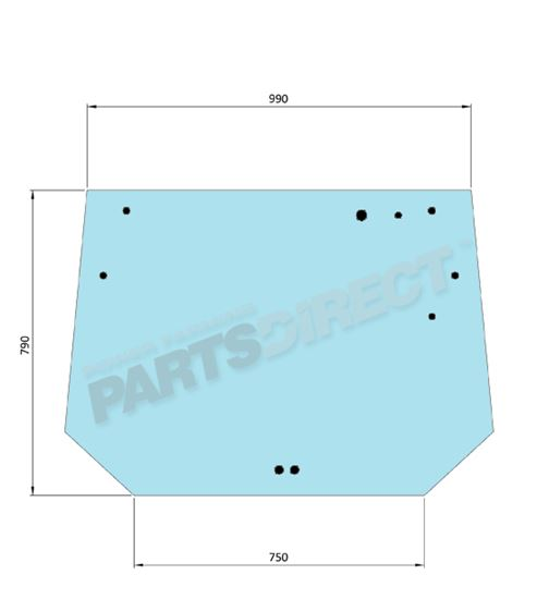 Picture of Flat Upper Rear Glass - MI-SG6006