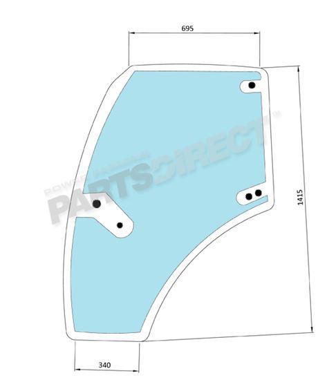 Picture of LH Door Glass - MI-SG8004