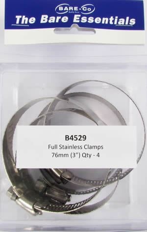 "Picture of Bare Essentials 3"" Stainless Hose Clamp (Qty 4) - B4529"