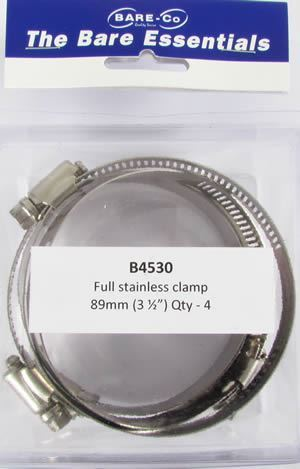 "Picture of Bare Essentials 3.1/2"" Stainless Hose Clamp (Qty 4) - B4530"