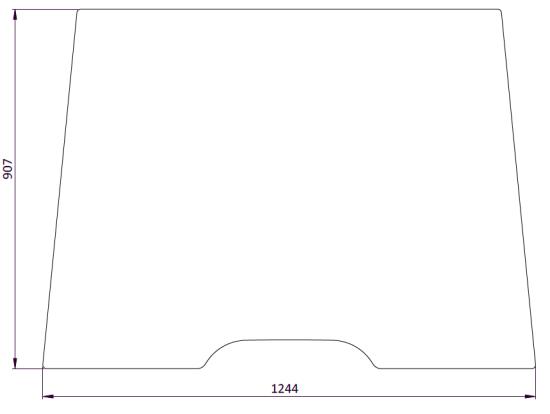 Picture of Flat Windscreen - MI-SG4055