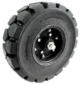 "Picture of HD Solid Cushion Tyre (Wheel with Hub) 6.00X9"" - B6438"