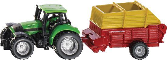 Picture of Deutz-Fahr Agrotron with Pottinger Silage Wagon - MI-M09D086
