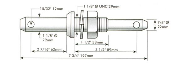 Picture of Lower Link Dual Category Pin - Cat 1/2 - MI-PFS206