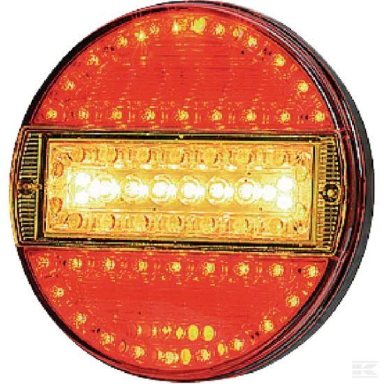 Picture of LED Rear Light - Multifunction - 140mm Dia - 12/24V - KR-LA40013