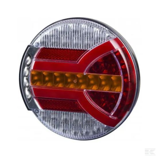 Picture of LED Rear Light - Multifunction - 140mm Dia - 12/24V - KR-LA40065