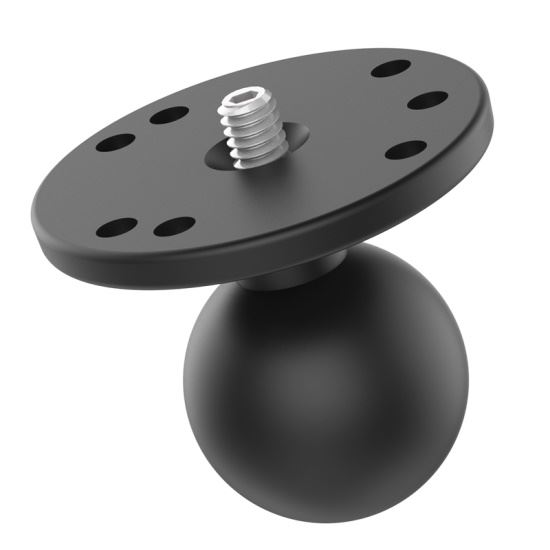"""Picture of RAM Ball Adapter with Round Plate and 1/4""""-20 Threaded Stud - MI-RAM-202AU"""