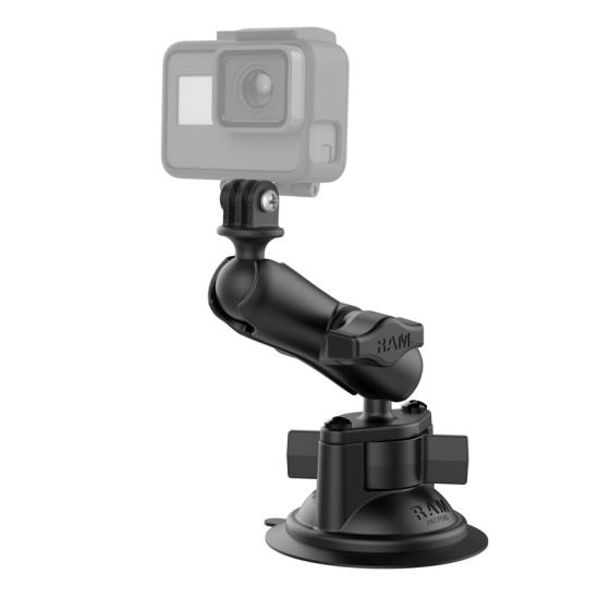 Picture of RAM Twist-Lock Suction Cup Mount with Universal Action Camera Adapter - MI-RAM-B-166-GOP1