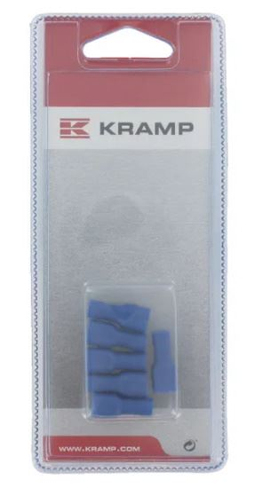 Picture of Insulated Push-On Crimp Terminal - Blue (6 Piece) - KR-KRLA9155P006