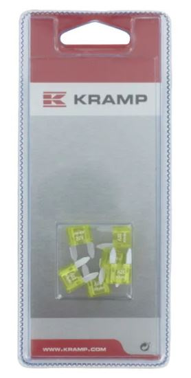 Picture of Mini Blade Fuse Pack - 20A (6 Piece) - KR-KRSI20267P006