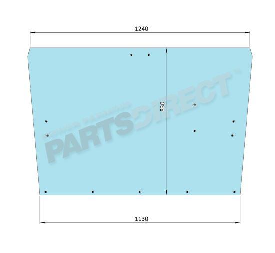Picture of Flat Rear Window 13 Holes - MI-SG3005