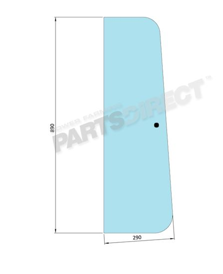 Picture of Front Door Glass 1 Hole - MI-SG9002