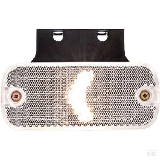 Picture of LED Marker Light - Front (White) - Rectangular - 12/24V - KR-LA30106
