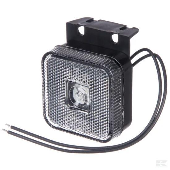 Picture of LED Marker Light - Front (White) - Square - 12/24V - KR-LA30137