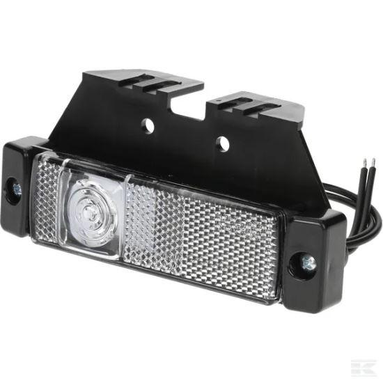 Picture of LED Marker Light - Front (White) - Rectangular - 12/24V - KR-LA30143