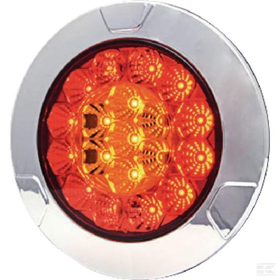Picture of LED Rear Light - Multifunction - 152mm Dia - 12/24V - KR-LA40003