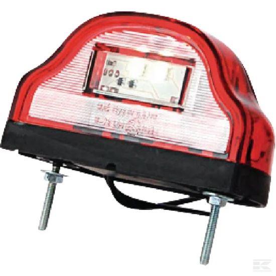 Picture of LED Number Plate Light - Red - 12/24V - KR-LA41001