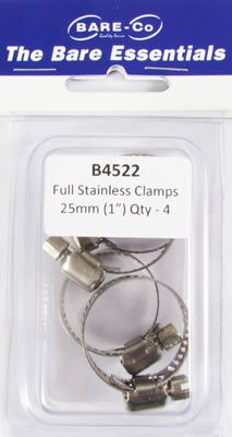 """Picture of Bare Essentials 1"""" Stainless Hose Clamp (Qty 4) - B4522"""