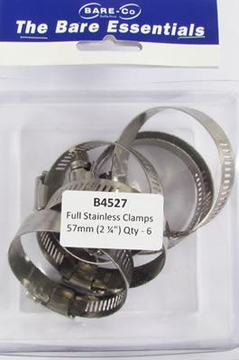 """Picture of Bare Essentials 2.1/4"""" Stainless Hose Clamp (Qty 6) - B4527"""