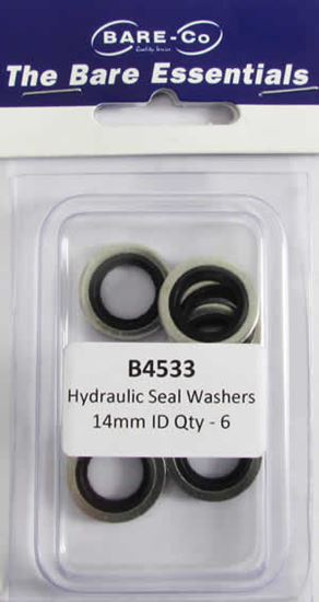 """Picture of Bare Essentials 1/4"""" BSP Bonded Seal Washer (Qty 6) - B4533"""