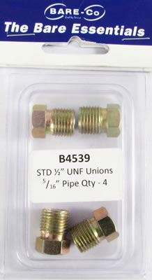 """Picture of Bare Essentials 1/2"""" UNF Union for 5/16"""" Pipe (Qty 4) - B4539"""