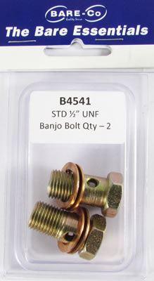 "Picture of Bare Essentials 1/2"" UNF Banjo Bolt (Qty 2) - B4541"