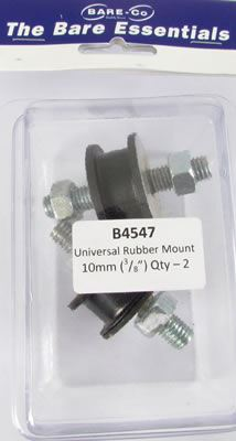 Picture of Bare Essentials 10mm Universal Rubber Mount (Qty 2) - B4547