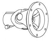 """Picture of Flange Joint 1 3/8""""X6SPL - B6543"""