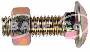 """Picture of Cup Head  Bolt with Nut 3/8""""x1 1/2"""" - B4070"""