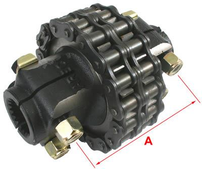 """Picture of HD Chain Coupling 1 3/8""""X 6SPL - B6470"""