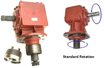 Picture of 130HP Standard Rotation Gearbox (1:1) - B9672